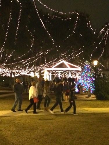 Enjoying the Nights of Lights, St. Augustine, FL