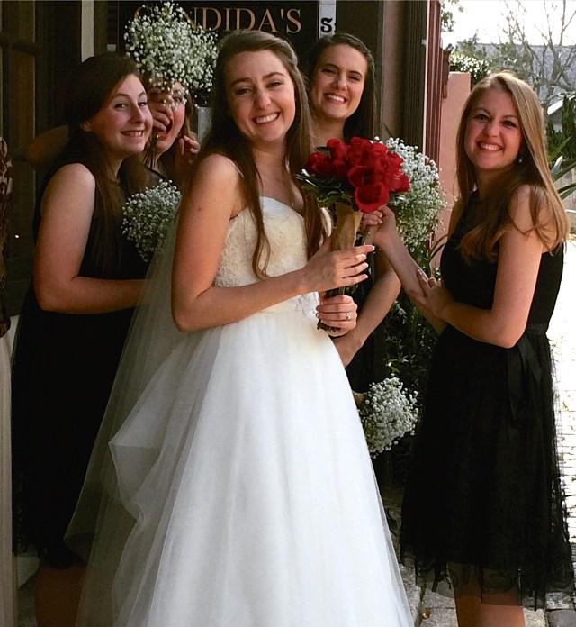 Wedding party on Aviles Street