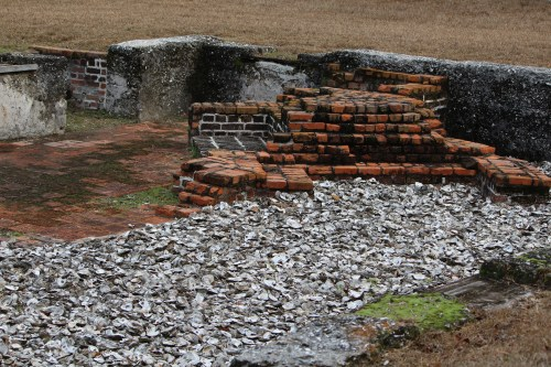 Remains of John Calwell's home, one of the finest at Fort Frederica.
