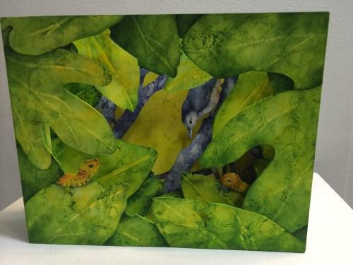 Three-dimensional art:  Backyard Food Chain by Elizabeth Sanford