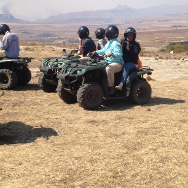 Resting on the ATV trip in Clarens, South Africa