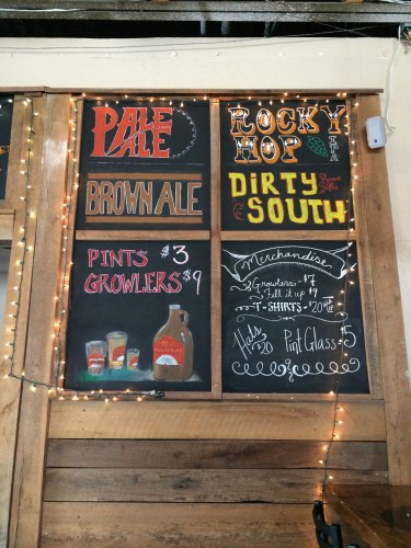 Chalkboards at The Mill at Saw Works Brewing Company