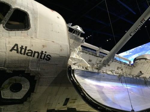 Inside Space Shuttle Atlantis