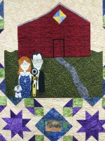 American Gothic version of quilt: Little Blessings