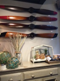 Propellers as wall art at Elm & Iron OTR