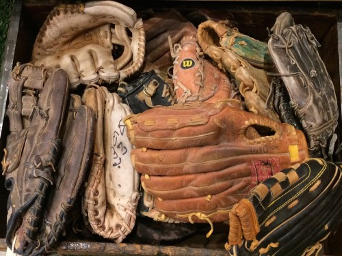 Could some of these vintage gloves have belonged to budding Reds fans?