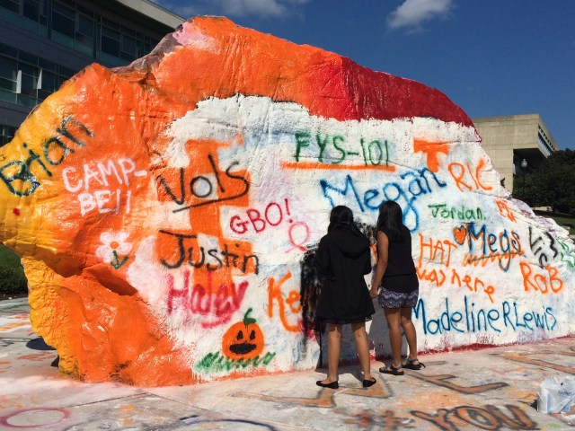 Painting The Rock -- a UT tradition