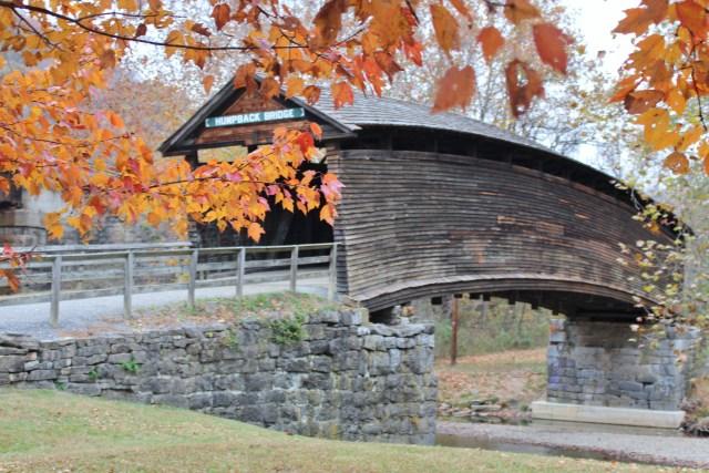 Fall color at Humpback Bridge near Covington, Virginia.