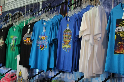 T-shirts in all sizes, all colors at Balloon Fiesta 2014
