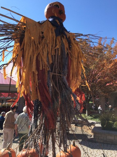 Made entirely of natural materials, this autumn goddess took center stage in Tamarack's outdoor courtyard.