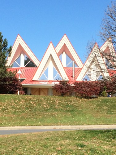 Peaked roofline of Tamarack greets you as you take exit 45 off I-77 at Beckley.