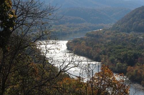 Lovely fall foliage enhances the beauty of New River.