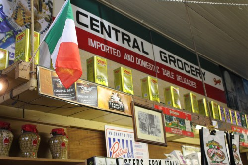 With Italian flags hanging on almost every shelf, there's no doubting you're in an authentic place!