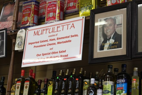 Muffuletta sign at Central Grocery: New Orleans