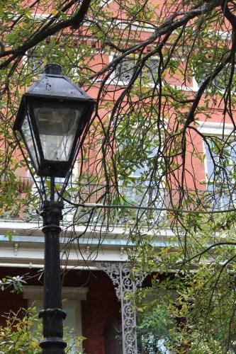 Ornamental iron light pole in Jackson Square
