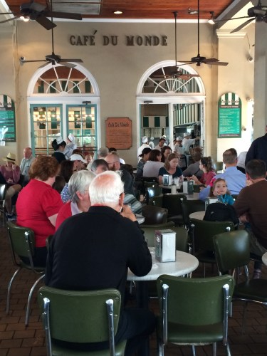 Morning shift -- Cafe Du Monde, New Orleans French Quarter.