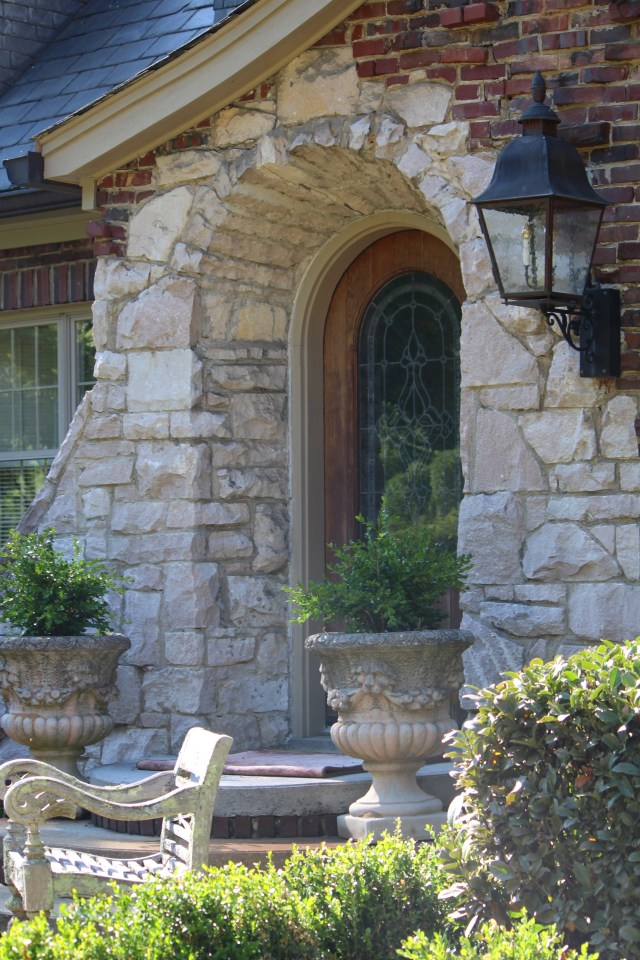 Beautiful stonework entrance to the home of Dr. Jimmy Milan of Knoxville.