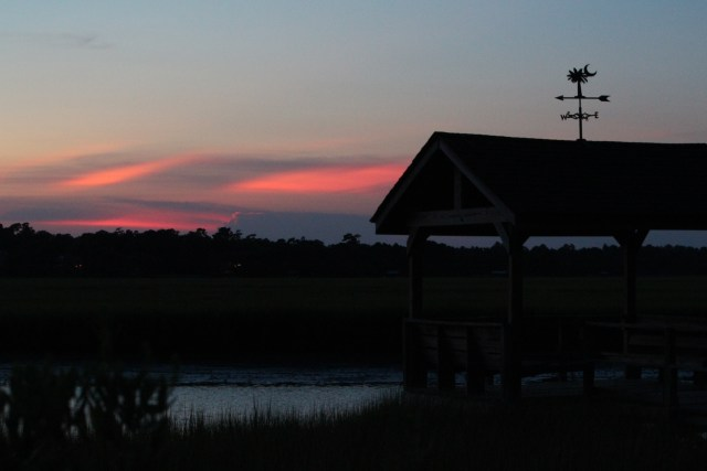 Almost dark: Pawleys Island Creek dock
