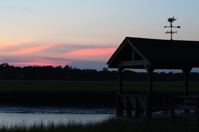 Almost sundown: Pawleys Island Creek Dock