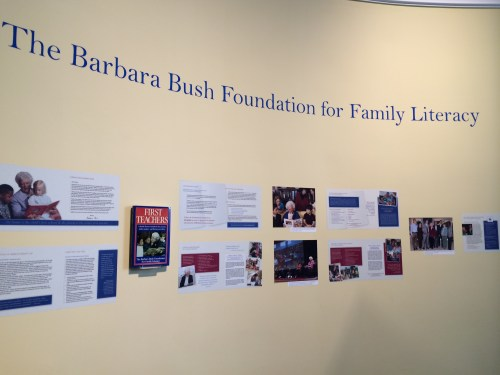 Wall dedicated to Barbara Bush Foundation for Family Literacy