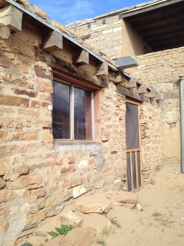 Earthy details invite a closer look at the construction and simplistic beauty of homes at Acoma.