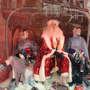 Santa and high fashion at Selfridges, London