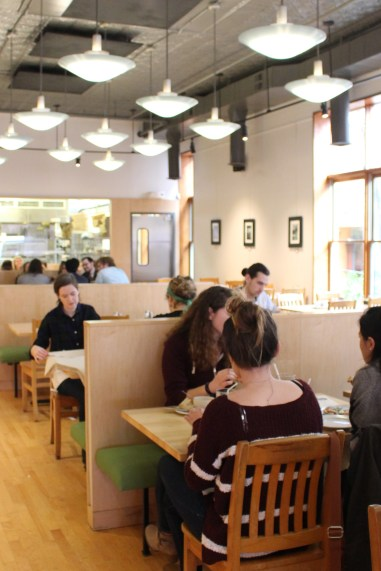 Light airy, industrial -- the interior of The Tomato Head in Knoxville's Market Square