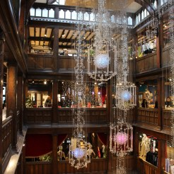 Inside the atrium of Liberty of London