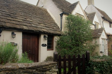 Plain stucco homes in The Cotswolds