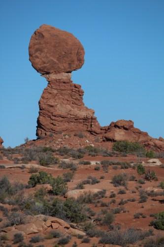Balanced Rock at a distance.