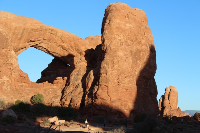Moving closer to the North Window at Arches National Park