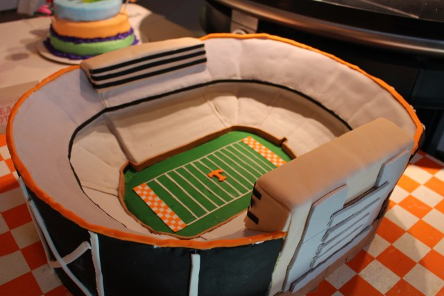 Neyland Stadium cake -- perfect for Big Orange country!