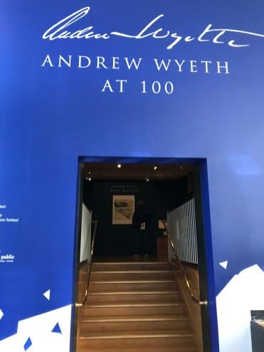 Andrew Wyeth at 100 exhibit, Farnsworth Art Museum