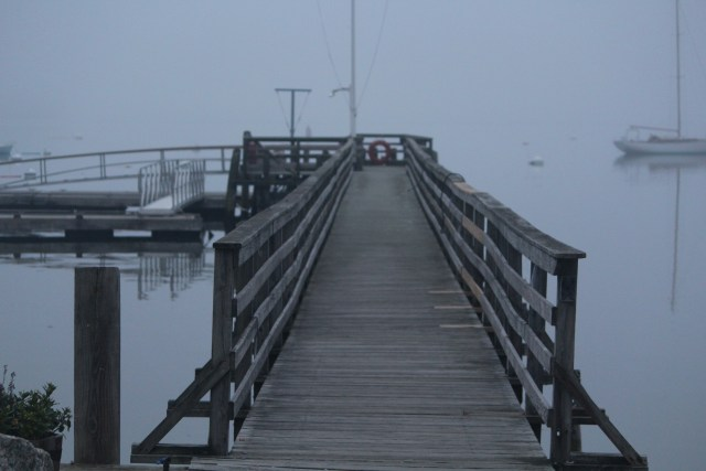 The long dock at Castine's Yacht Club.