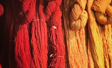Colorful, hand-dyed yarn for sale at Swans Island Blankets