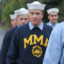 Walking under the elms: cadets of Maine Maritime Academy
