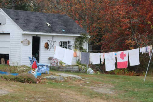 Laundry day in Spruce Head, Maine