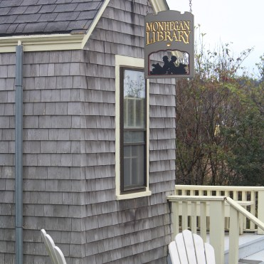 Sweet: the tiny but accommodating Monhegan Library