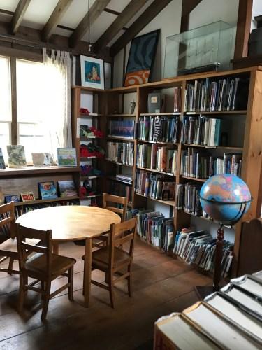 Inside the Monhegan Library