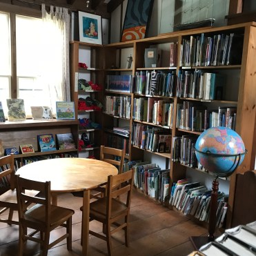 Inside the Monhegan Library