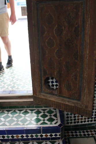 Cat door in Bahia Palace