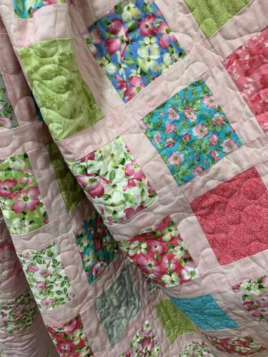 Spring dogwood fabric at Mountain Stitches, Gatlinburg