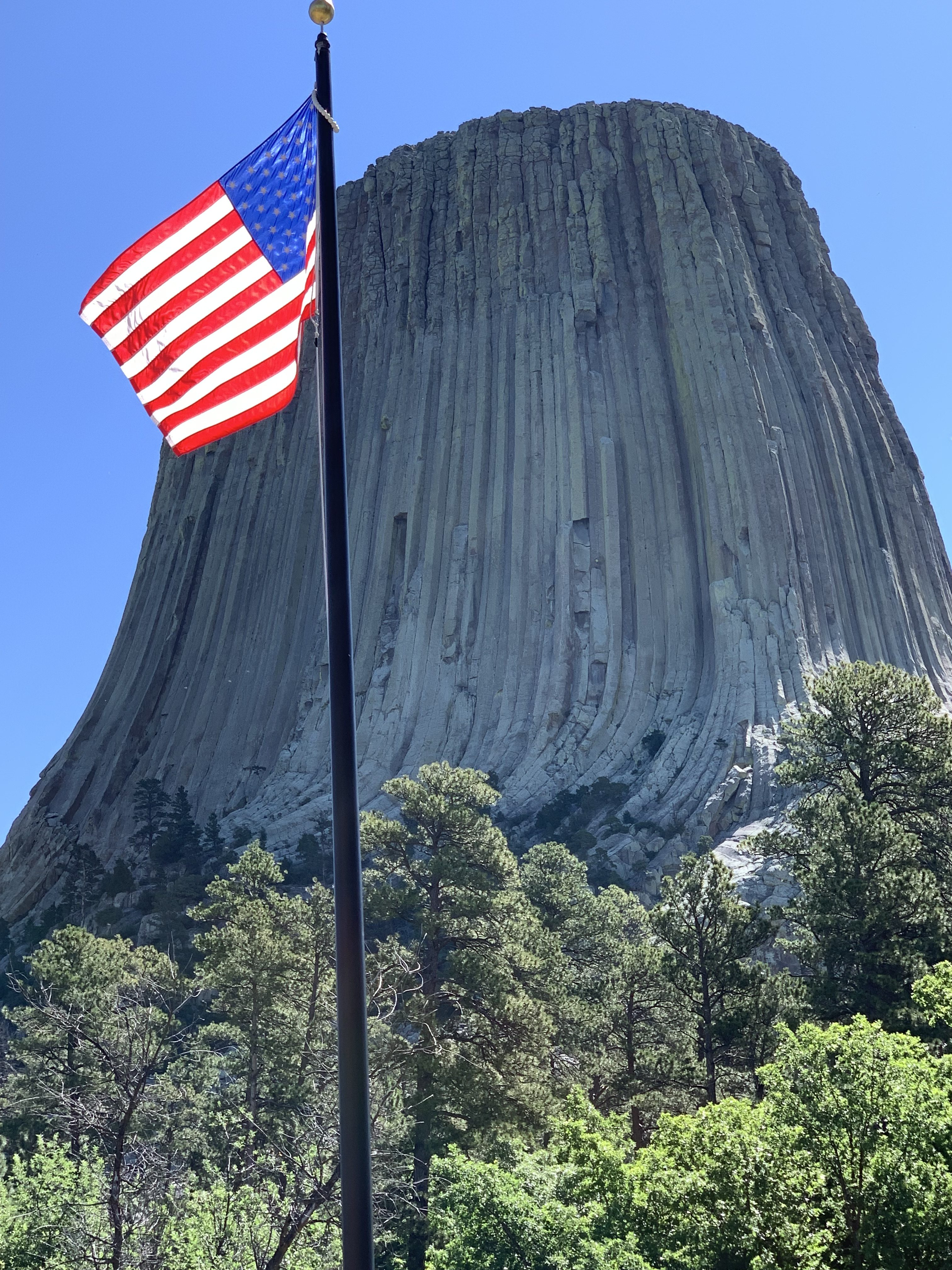 Devils Tower, US Flag