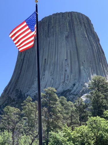Devils Tower, US Flag