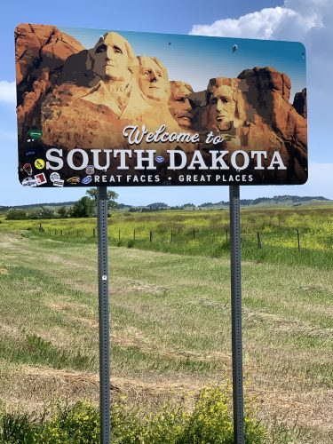 South Dakota welcome sign