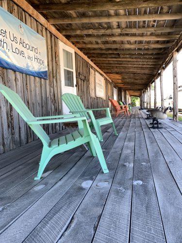 Scenic front porch in Scenic SD
