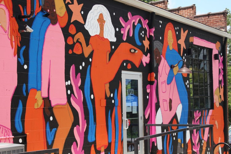 Walls for Women - mural in S. Knoxville by Paris Woodhull