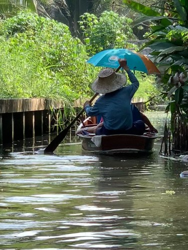 Boat ride near Bangkok, Thailand