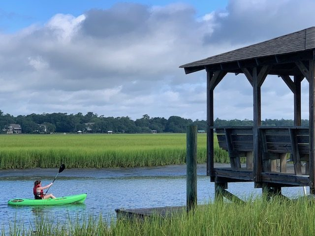 Dock with kayak, Pawleys Island SC