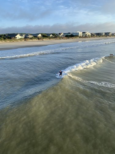 Waiting for waves: Pawleys Island SC
